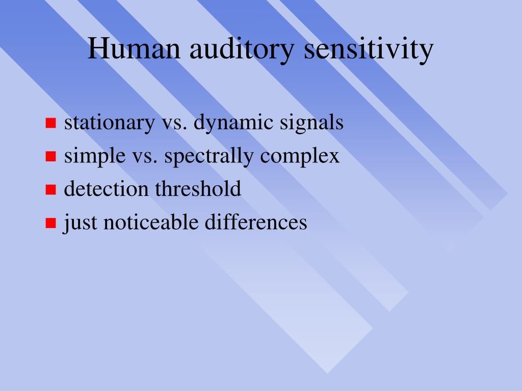 Human auditory sensitivity