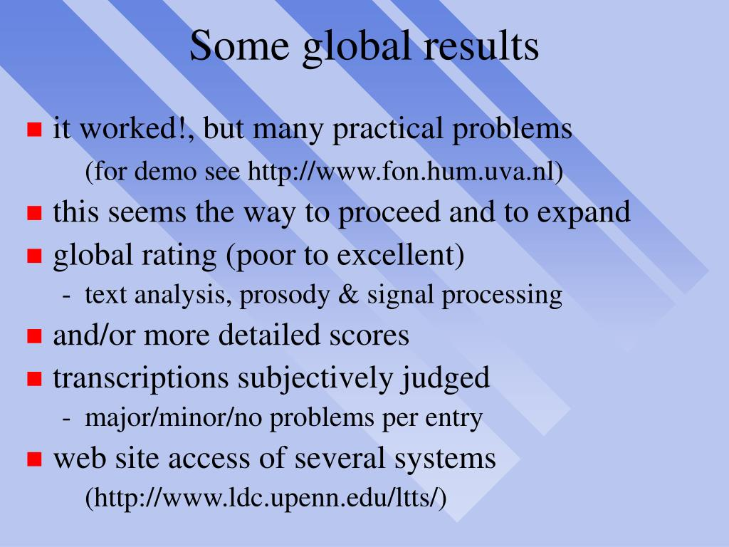 Some global results