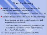 speech efficiency
