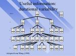 useful information durational variability