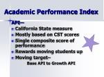 academic performance index