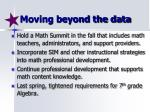 moving beyond the data