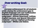 over arching goal