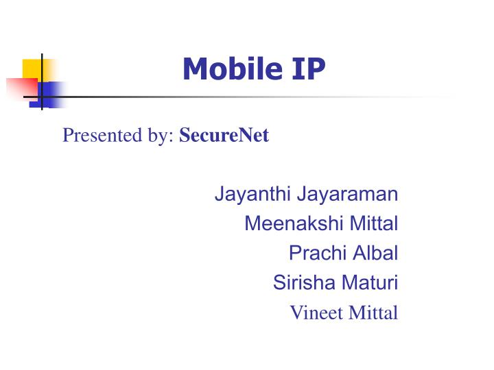 Ppt mobile ip security powerpoint presentation id:4352032.