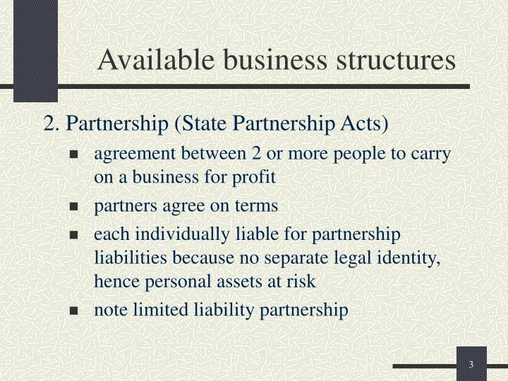 Available business structures3
