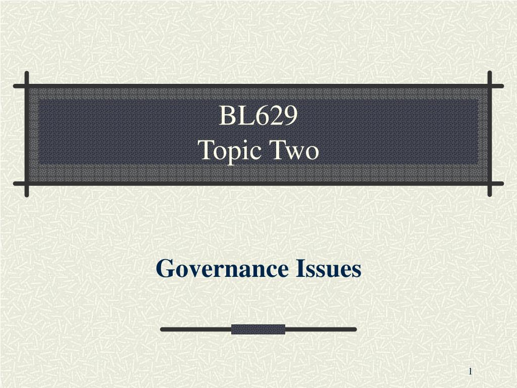 bl629 topic two l.