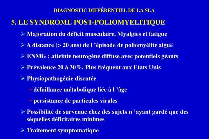 DIAGNOSTIC DIFFÉRENTIEL DE LA SLA
