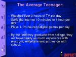 the average teenager