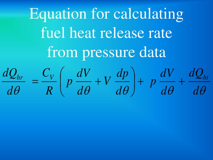 Equation for calculating