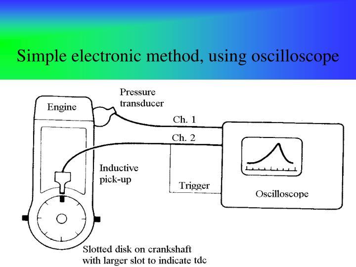 Simple electronic method, using oscilloscope