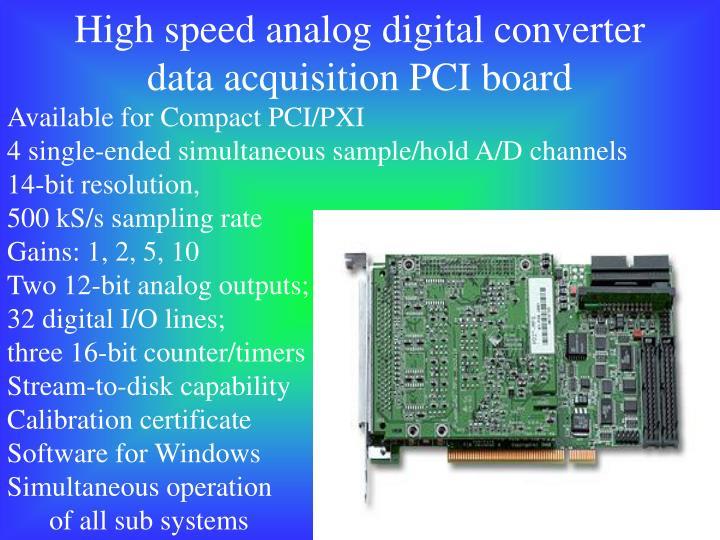 High speed analog digital converter