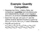 example quantity competition