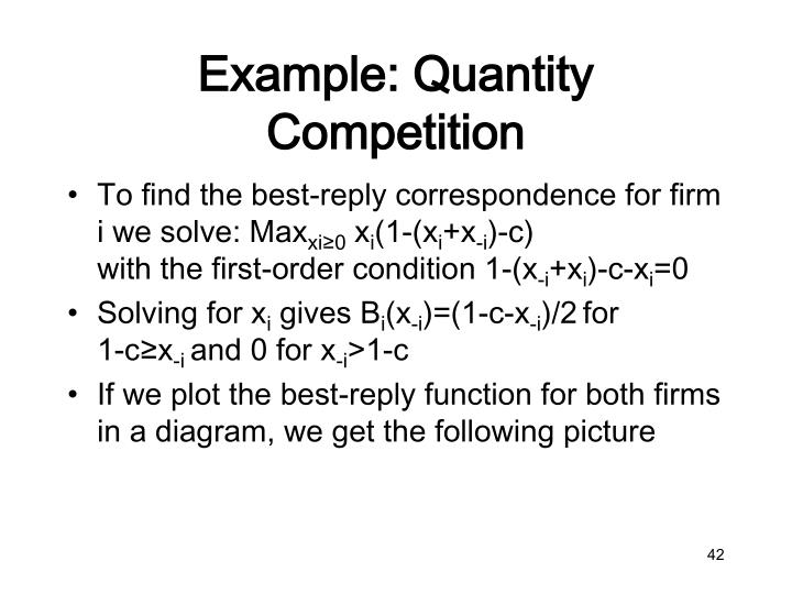 Example: Quantity Competition