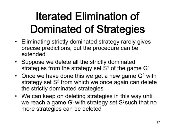 Iterated Elimination of Dominated of Strategies