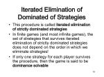 iterated elimination of dominated of strategies1
