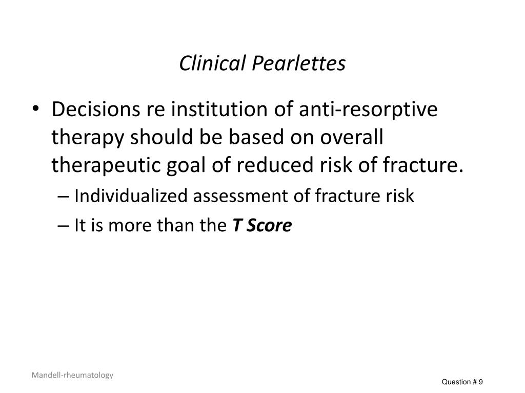 Clinical Pearlettes