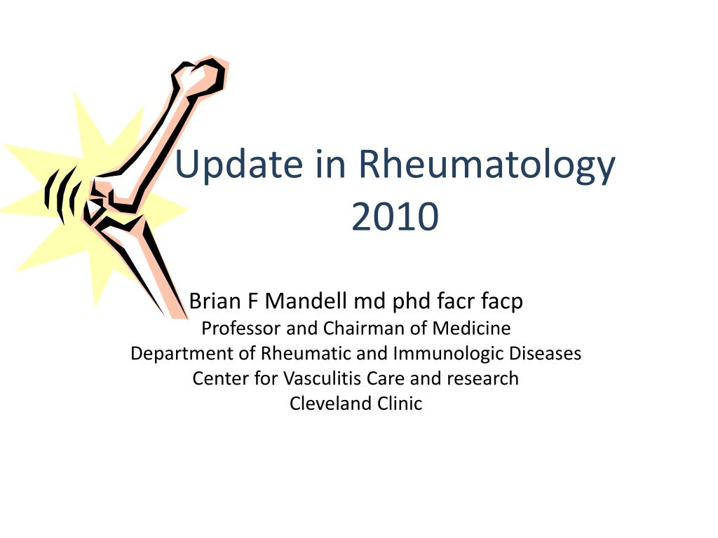 update in rheumatology 2010 l.
