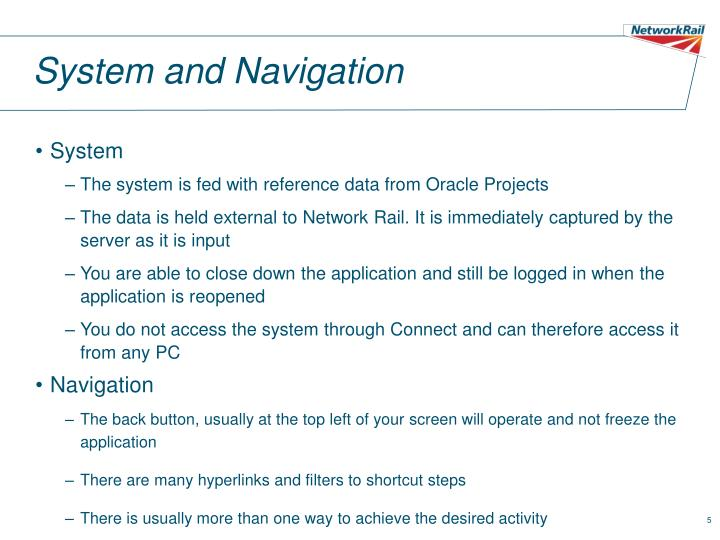 System and Navigation