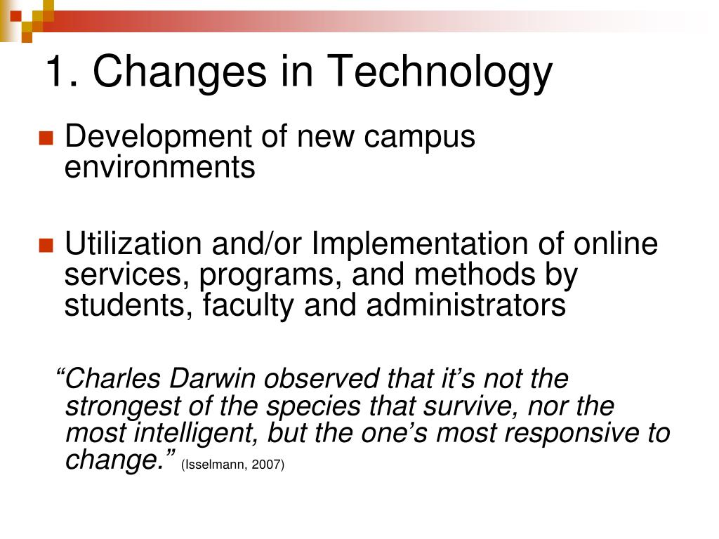 1. Changes in Technology