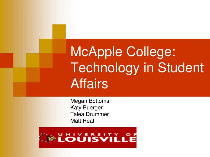 Mcapple college technology in student affairs