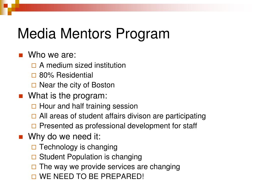 Media Mentors Program