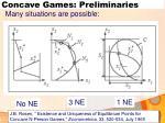 concave games preliminaries