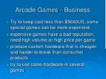 arcade games business