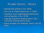 arcade games history