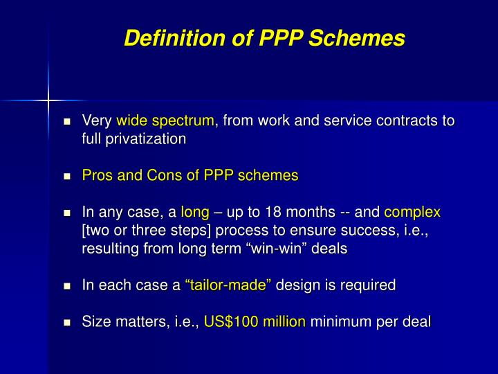Definition of PPP Schemes