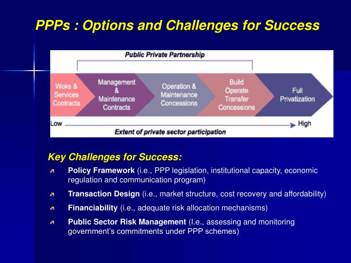 PPPs : Options and Challenges for Success