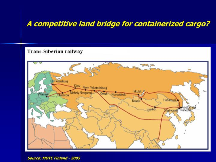 A competitive land bridge for containerized cargo?