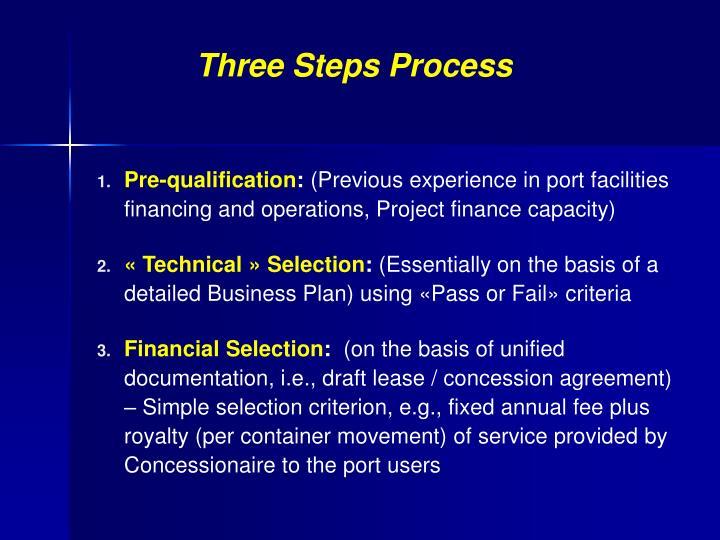 Three Steps Process