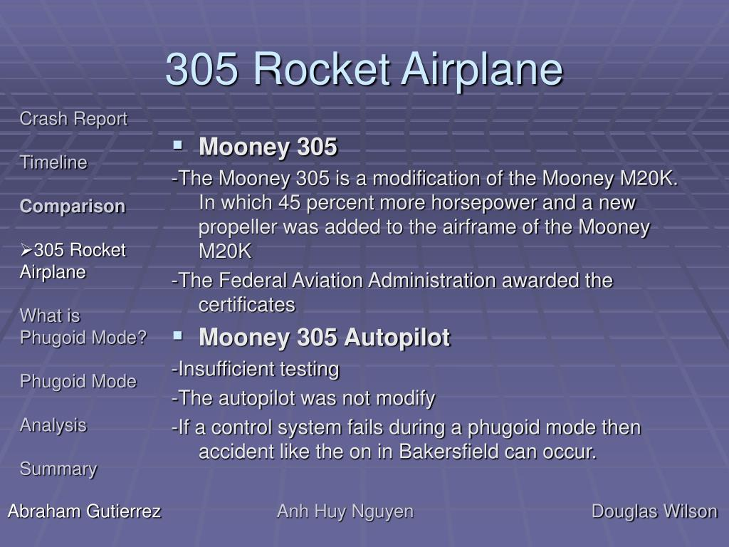 305 Rocket Airplane