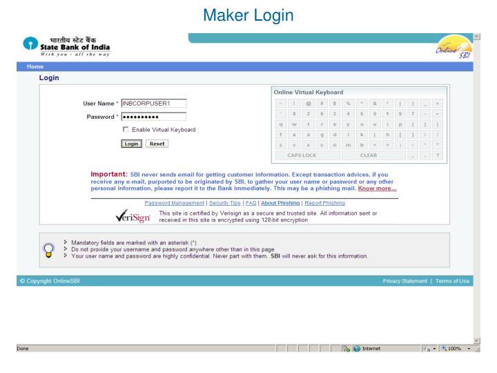 Maker Login
