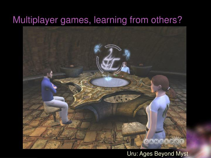 Multiplayer games, learning from others?