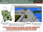 driver s virtual environment and display