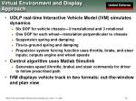 virtual environment and display approach