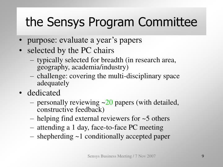 the Sensys Program Committee