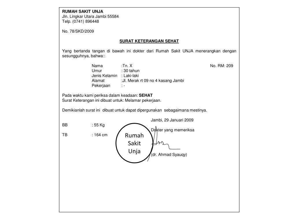Contoh Surat Visum Dokter Suratmenyuratnet