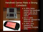 handheld games make a strong comeback