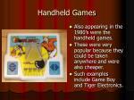 handheld games