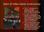 start of video game controversy