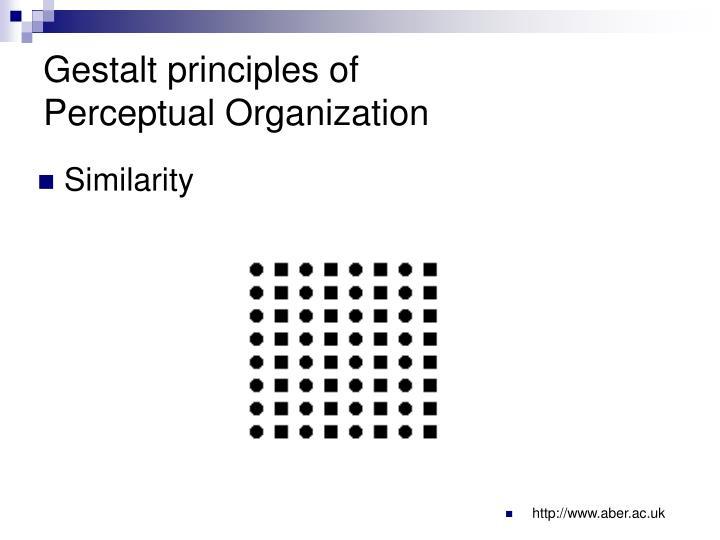 Gestalt principles of