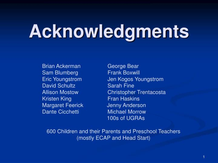 acknowledgments n.