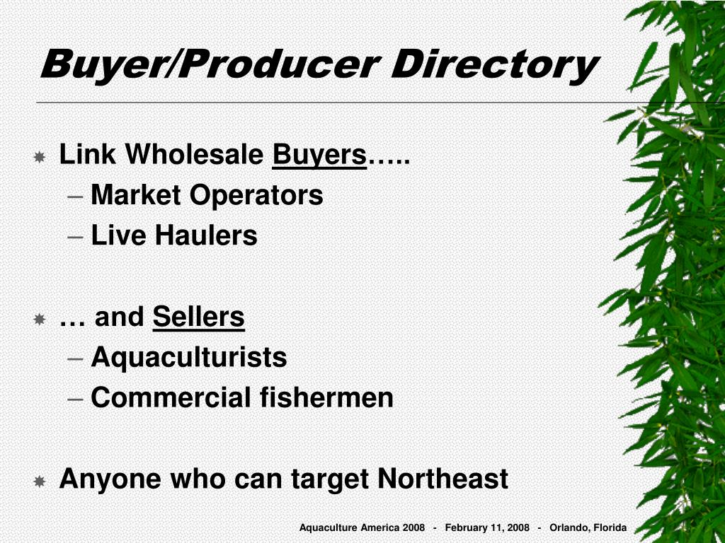Buyer/Producer Directory