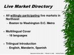 live market directory