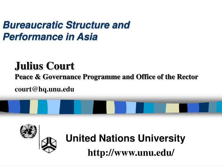 bureaucratic structure and performance in asia n.