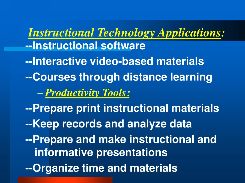 PPT - Educational Technology PowerPoint Presentation - ID