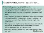 results from medencentive s expanded trials2
