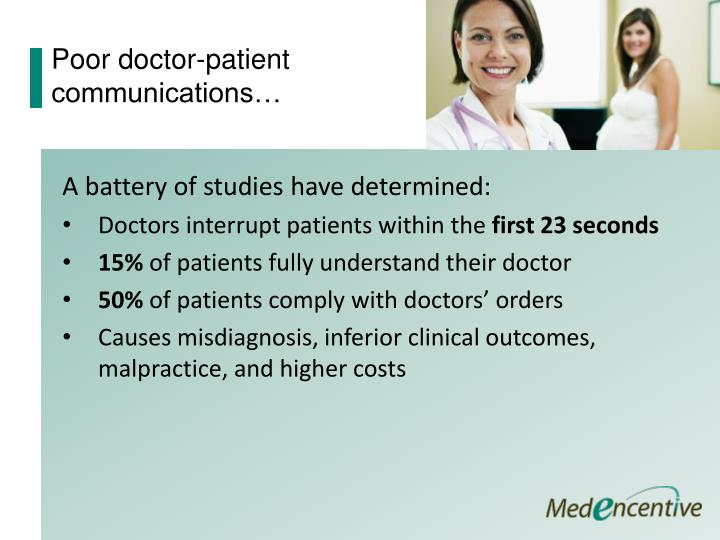 Poor doctor-patient communications…